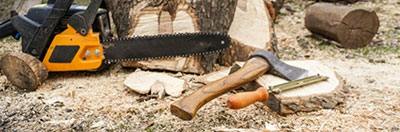 firewood equipment axes and chainsaws