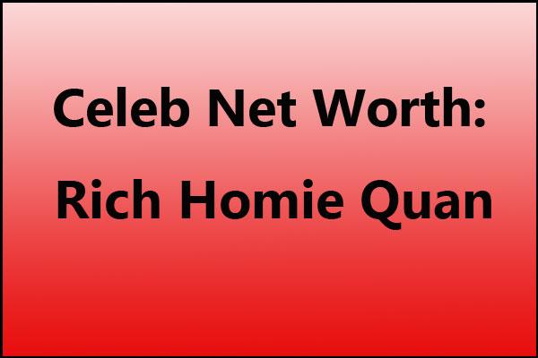 Rich Homie Quan net worth